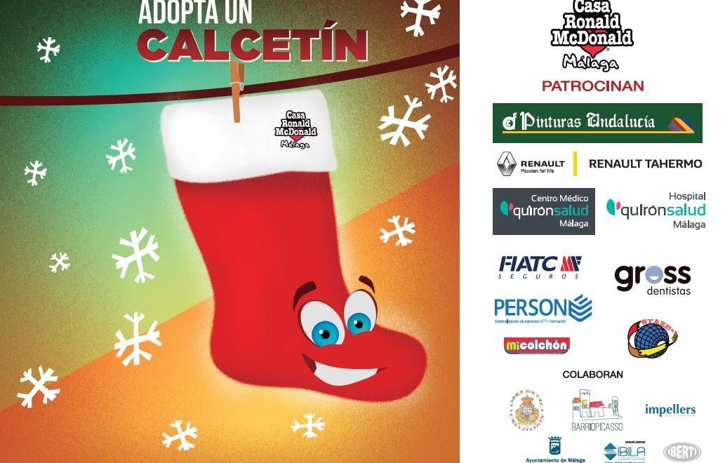 Estas Navidades adopta un calcetín con Casa Ronald McDonald Málaga