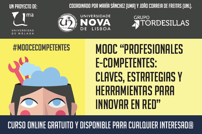 "Cartel presentación curso MOOC: ""profesionales e-competentes"""