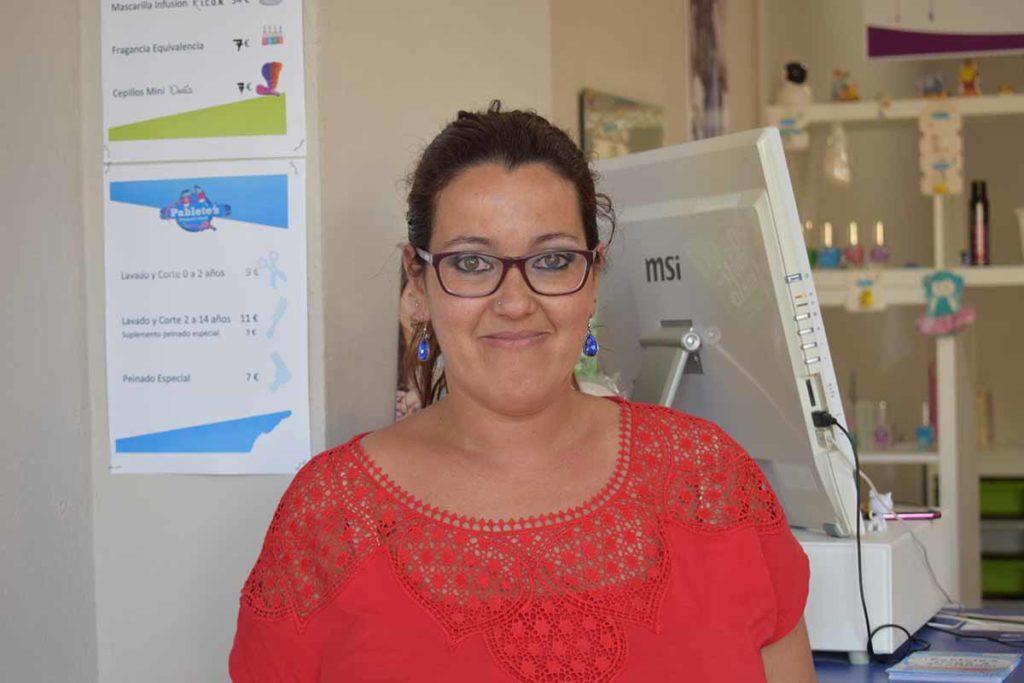 Lorena Fernández peluquera en Pablete´s